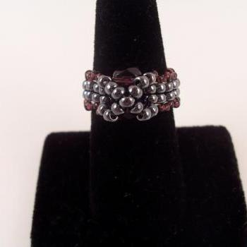 Moon River Ring Pattern, Beading Tutorial in PDF